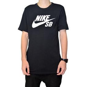 2e6b08cafe Camiseta Nike Sb Preta Com Logo Branco Original
