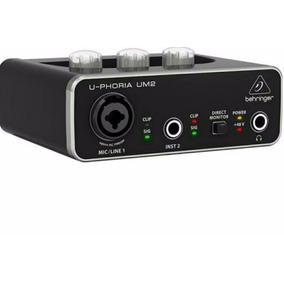 Placa Gravadora Interface De Áudio U-phoria Um2 Promoção