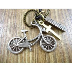 Colar Feminino Masculino Pingente Bicicleta