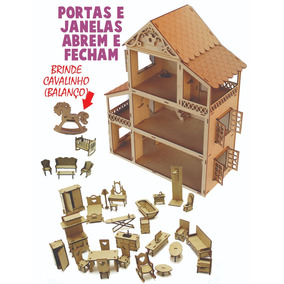 Casinha Boneca Polly +34 Mini Móveis