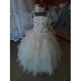 b60f27639 Vestido Presentación Color Perla Talla 2 3