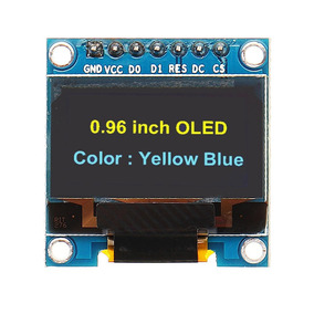 Modulo Display Oled 0.96 Spi Azul & Amarelo Lcd Serial