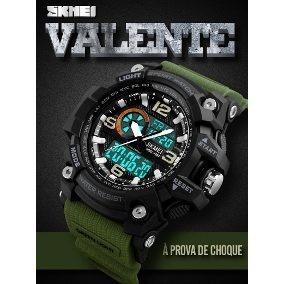 Relógios Militar Skmei 2018 Original Verde E Preto