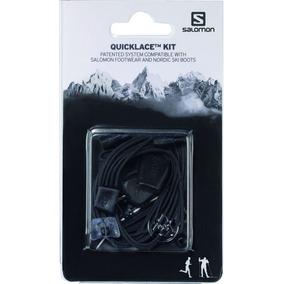 Cordones Unisex Salomon - Cordones / Quicklace Kit Negro - T