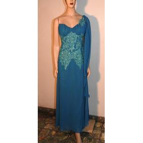 8b55a0b8f Vestidos Madrina Largos Xxl - Vestidos de Fiesta Azul acero en ...