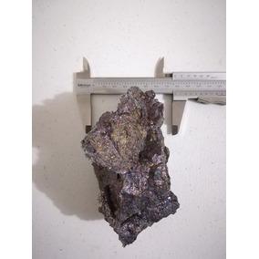 Mineral De Cobre Bornita Con Lámina De Plata Nativa