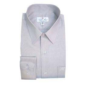 Camisa M/ L Gris Perla Caballero Planchado Fácil