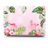 Carcasa Case Funda Macbook Air 13,3 A1466 Diseño Flamingos