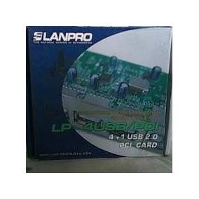 Estupenda Tarjeta Pci Lanpro I/o 4p Usb+ Cable Sata,nuevas