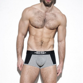 Cueca Boxer Es Collection Stripes Modal - Cinza