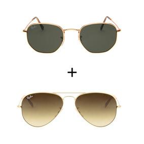 e8f2723577f0d Rayban Hexagonal Marrom - Óculos De Sol Ray-Ban no Mercado Livre Brasil