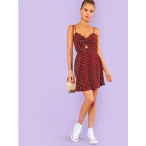 608a5221298e8 Vestido Rojo Lunar Blanco - Vestidos de Mujer en Mercado Libre México