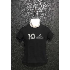 Camiseta, Playera Armani Exchange A/x Original. T/s Usada.