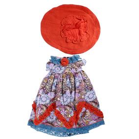 Falda De Vestir Estampada Floral Vintage Con Sombrero Para ebaf1903679