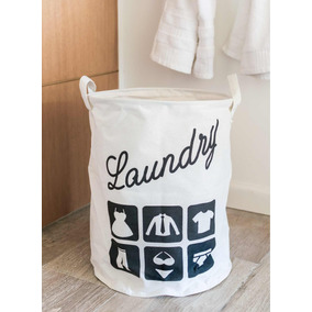 Cesto Canasto Laundry Plegable C/ Manija Ropa Sucia Lavadero
