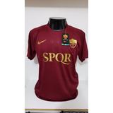 Camisa Roma Home 16-17 Totti 10 Derby Patch Calcio Importada 68451315f59e1