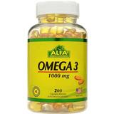 Omega 3 Alfa Vitamins 1000gr X 200 Capsulas