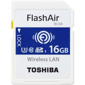Cartão Sd Toshiba Flashair Wi Fi 16gb 4k U3 Classe 10 W-04