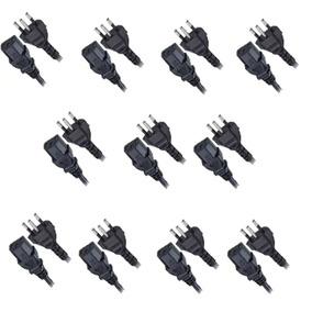 Kit 21 Cabos De Força Tripolar,75mm Cpu E Fontes 1,20m Nbr
