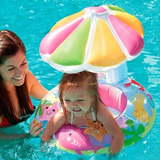 Flotador Para Niños Con Sombrilla Inflable Alberca Piscina