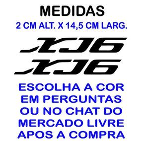 Par De Adesivos Xj6 Carenagem Kit Com 5 Unidades Modelo Real