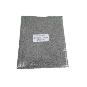 Esferas De Aço Inox Polimento Tam 1,5 Mm 1kg Tamboreador