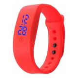 Reloj Banda Digital Deportivo Mujer Silicona Vot6 Rojo