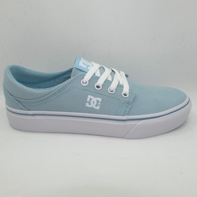 Tenis Dc Shoes Trase Tx Womens Adjs300078 Ltb Light Blue Az