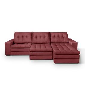 Sofá 5 Lugares Retrátil Suede Absolute American Comfort