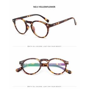 Armação Óculos De Grau Acetato Redondo Masculino Feminino Bo 21d965d293