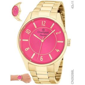 c0f1ae98374 Relogio Todo Dourado Fundo Rosa Casio - Relógios De Pulso no Mercado ...