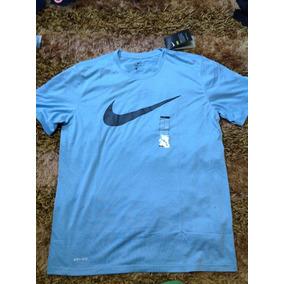 Playera Deportiva Hombre Nike Trainning Azul Talla L 699  077d8443b9c82