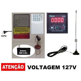 Alarme Gsm Falta Energia Elétrica Temp. + Antena + Horimetro