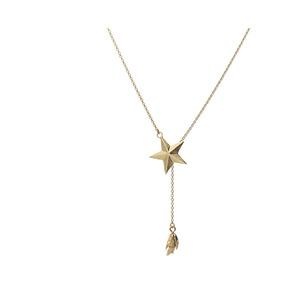 Collar Plata 925 Baño De Oro Con Dije De Estrella Gayatri