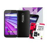 Celular Moto G3 8gb Quad-core Ram 1gb Negro + Memoria 32gb