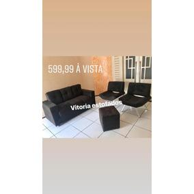 Sofa 3 Lugraes + 2 Poltronas + 1 Puff. Produtos Novos