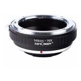 Nikon-nx Lente Montura Lentes Nikon A Camara Samsung Nx