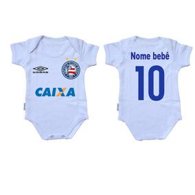 Body Criança Roupa Bebê Nene Time Futebol Bahia Salvador 6a03961be5