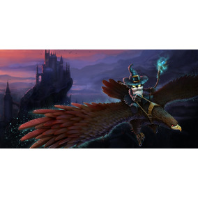 Poster Cartaz A3 League Of Legends Veigar Cinzento