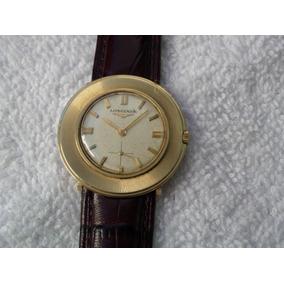 Reloj De Oro Macizo De 14k. De Cuerda Extraplano Coleccion