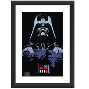 Quadro Darth Vader Star Wars Desenho Arte Decoracao 45x60 Cm