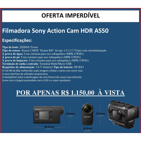 Filmadora Sony Action Cam Hdr As50