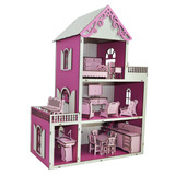 bd4ccfc46 Kit Casa De Boneca Com 21 Moveis Casinha Polly July Princesa no ...