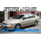 Manual Despiece Catalogo Toyota Corona T19 1992 - 1998 Españ