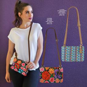 Mariconera De Dama Flores Textil Multicolor ¡precio Mayoreo!