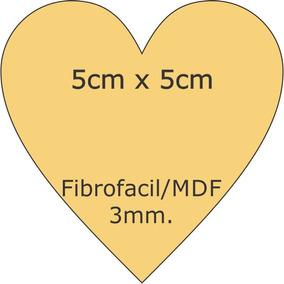 Figura Corazon De 5x5 Fibrofacil Corte Laser 3mm 5