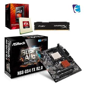 Kit Processador Fx 8300 Asrock N68 Gs4 Ddr3 Ram 4gb Hyper I