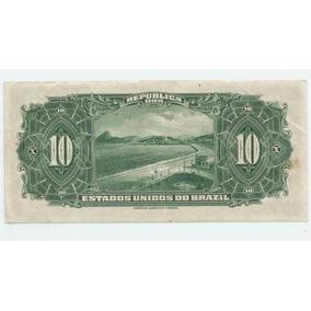 Cédula 10 Mil Reis 1930, Z No Brazil Autografada Sob