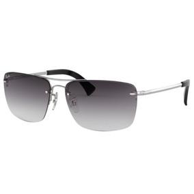 Oculos Sol Ray Ban Rb3607 003 8g 61 Prata Lent Cinza Degradê d6f9e42ce3