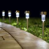 Lampara Solar Jardín Exterior Led 10 Piezas Resiste Al Agua